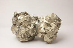 Mineraal: Pyriet Royalty-vrije Stock Foto's