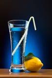 Mineraalwater en citroen stock afbeelding