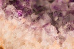 Minerai Amethyst Photographie stock libre de droits