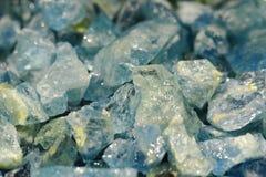 Minerai bleu vert bleu Photo stock