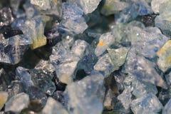Minerai bleu vert bleu Image libre de droits