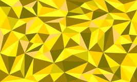 Minerai d'or bas poly Art Vector Graphic Background Photographie stock