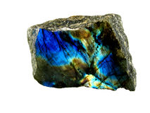 minerai de labradorite Photos libres de droits
