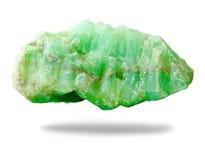 Minerai de nature de pierre de jade sur le fond blanc Photographie stock libre de droits