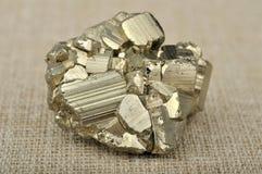 Minerai de pyrite Photographie stock libre de droits