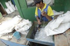 Minerai en plastique Photo stock