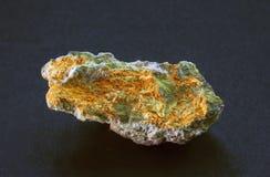 Minerai radioactif de Studtite de Shinkolobwe photographie stock