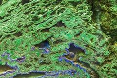 Minerai vert de malachite Photo libre de droits