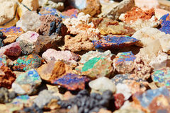 Minerais coloridos Fotografia de Stock Royalty Free