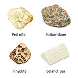 Minerais crus Image stock