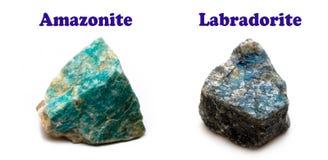 Minerais de Feldspatos Foto de Stock