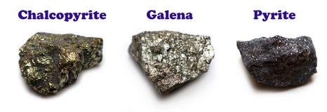 Minerais de sulfure Images libres de droits