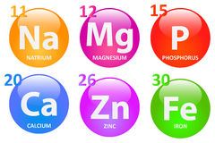 Minerais essenciais Fotografia de Stock
