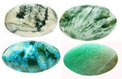 Minerais géologiques de texture abstraite semi-précieuse Photo stock