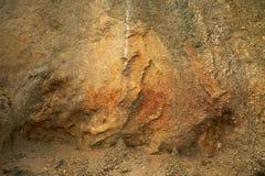 Minerais marinhos da argila do sedimento da pele, ilha da pele, Dinamarca Imagens de Stock