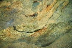 Minerais marins d'argile de sédiment de fourrure, île de fourrure, Danemark Images stock