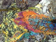 Minerais sob o microscópio imagem de stock
