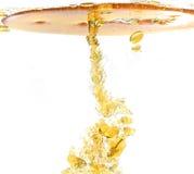 Mineralöl getrennt auf Weiß Stockfotografie