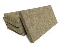 Mineral basalt rock wool mats stack Stock Images