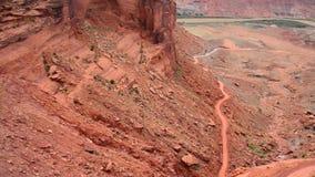 Mineral Bottom Road Switchbacks. Utah stock footage