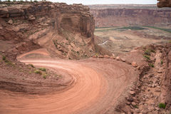 Mineral Bottom Switchbacks Dirt Road Royalty Free Stock Images