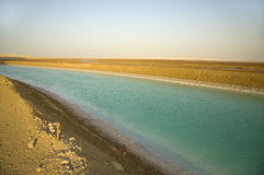 Mineral channel in the Dead-Sea Stock Photos