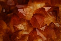 Mineral Citrine quartz cluster crystal texture royalty free stock image