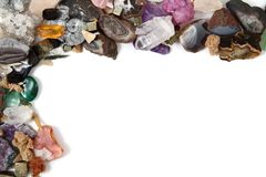 Mineral collection as frame Stock Image