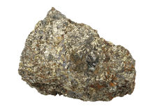 Mineral collection: chalcopyrite. Stock Image