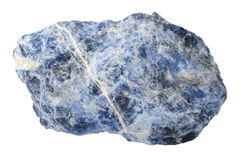 Mineral collection: sodalite. Royalty Free Stock Photos