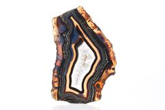 Mineral,colored agate with nacre rock geology.  Stock Photography