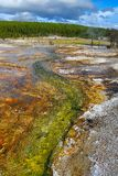 Mineral colors in Yellowstone National Park. Mineral swirls in Yellowstone National Park Stock Photo
