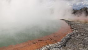 Mineral crust of Champagne Pool stock video