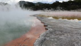 Mineral crust of Champagne Pool stock video footage