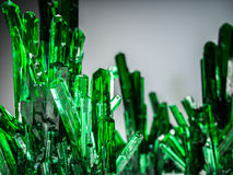 Mineral crystal stones, green color. 3d render. Mineral crystal stones, green color. 3d illustration Stock Photo
