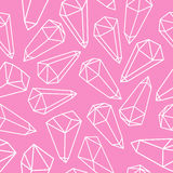 Mineral crystals seamless pattern Stock Photo