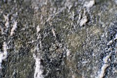 Mineral de hierro Hierro metálico Cierre para arriba Límites borrosos Minerales de la tierra Extracción del mineral de hierro nat foto de archivo libre de regalías