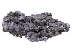 Mineral de la galena aislado Imágenes de archivo libres de regalías