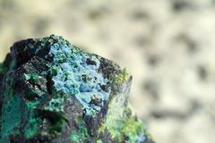 Mineral de la malaquita Imagen de archivo libre de regalías