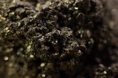 Mineral de oro Fotografía de archivo