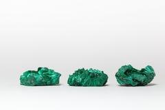 Mineral de três malaquite Foto de Stock Royalty Free