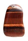 Mineral del ojo de Оx- - macro aislada en el fondo blanco Foto de archivo