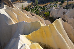Mineral deposit at Cappadocia. Unique rock formation and mineral deposit at Cappadocia, Turkey Royalty Free Stock Photo