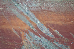 Mineral deposits in Grand Canyon Stock Photo