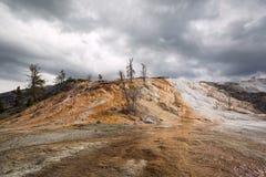 Mineral deposits at Yellowstone Royalty Free Stock Image