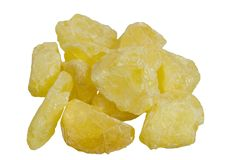 Mineral do enxofre isolado foto de stock royalty free