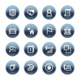 Mineral drop building icons Stock Image