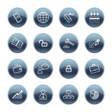 Mineral drop business icons Royalty Free Stock Photo