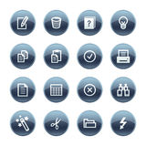 Mineral drop document icons royalty free illustration