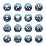 Mineral drop electronics icons Royalty Free Stock Photo
